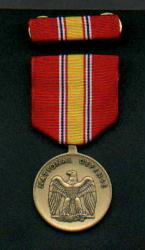 National Defense medal with ribbon bar