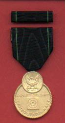 Navy Expert Pistol Medal with Ribbon Bar