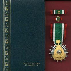 Saudi Desert Storm Liberation of Kuwait Medal in case US Made