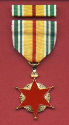 Vietnam Wound medal with ribbon bar