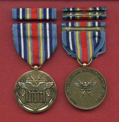 War on Terrorism Expeditionary medal with ribbon bar