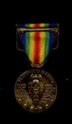 US WWI Victory Military Award Medal with ribbon bar