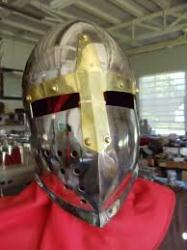 Stainless Crusader Helm