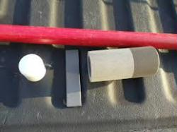 Red Fiberglass spear with 2 inch Icefalcon Tip Kit