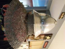 12 ga Stainless Kettle Helm with Drape