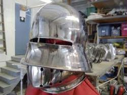 12 Gauge Stainless Salet Helm