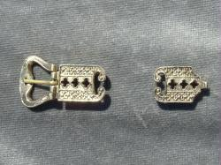 Delicate Brass Buckle and Tip Set