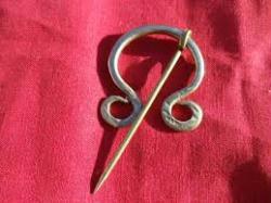 """Brass Fibula Cloak Clasp 2"""""""