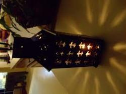 Medieval Lantern with Fleur de Lis (steel)