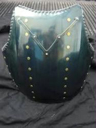 Blackened Steel, roped Churburg Breastplate with V-stop