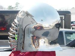Stainless Open Face Barbute shown with optional lifting visor