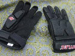 Low Profile Black Padded Gloves (small Adult Only)
