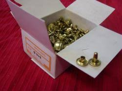 2 piece solid brass rivets
