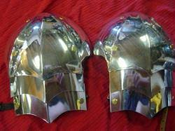 Gothic Fluted Shoulders (shown in aircraft aluminum. Specify AA or stainless steel when ordering)