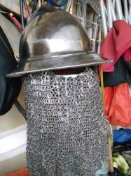 12 guage Stainless Kettle Helm with Stainless Steel Flat Ring Chain Drape