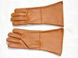 Black Period Leather Gloves - State size