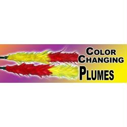 Color Changing Plumes - Half Dyed